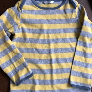 Boden 2/3 heathered grey and yellow Tshirt